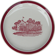 Missouri Kansas & Texas Railroad China Red Alamo Service Plate