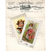 GROUP: 1890s Walter A. Wood Trade Cards & Billhead Farm Machinery Advertising