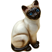 Right Facing Siamese Cat China Figurine by ENESCO w/ Original Label - Red Tag Sale Item