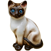 Left Facing Siamese Cat China Mid-Century Figurine by ENESCO w/ Original Label - Red Tag Sale Item
