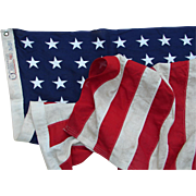 Vintage 3'x5' 48-Star American Flag Bull Dog Bunting by Dettras