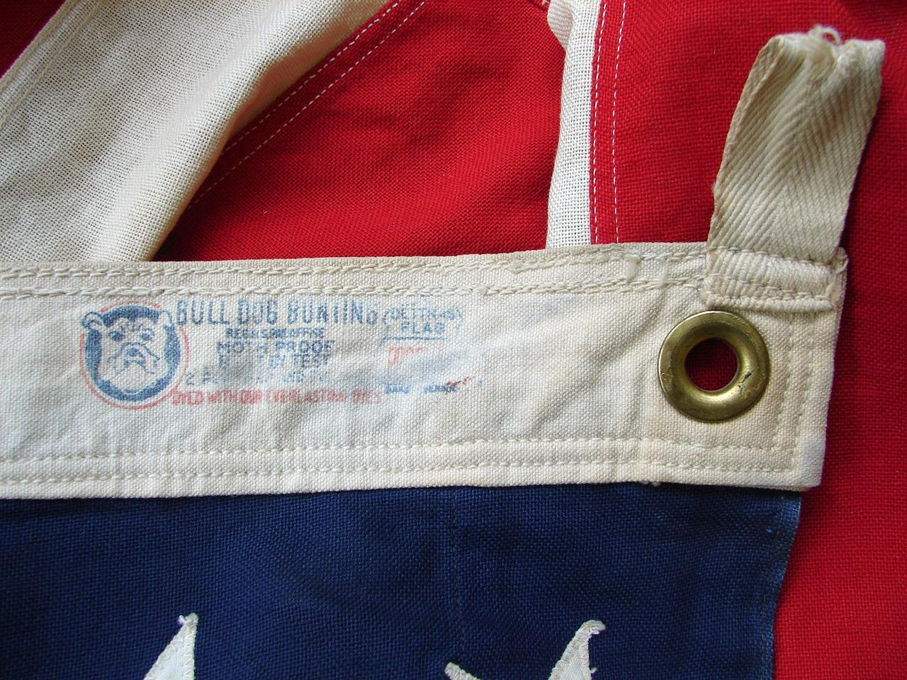 Larger 48 Star American Flag Bulldog Bunting By Dettras Of