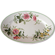 "Atlantic Coastline Railroad China ""Flora of the South"" Platter by Buffalo China"