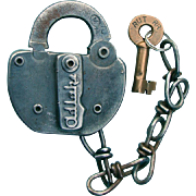 Rutland Railroad Adlake Switch Lock and Key Set