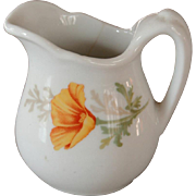 Tiny Santa Fe Railroad California Poppy Dining Car China Pitcher