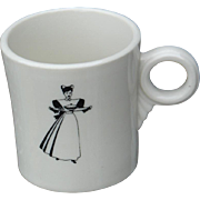 "Fred Harvey ""Harvey Girl"" Waitress Railroad China Coffee Cup"
