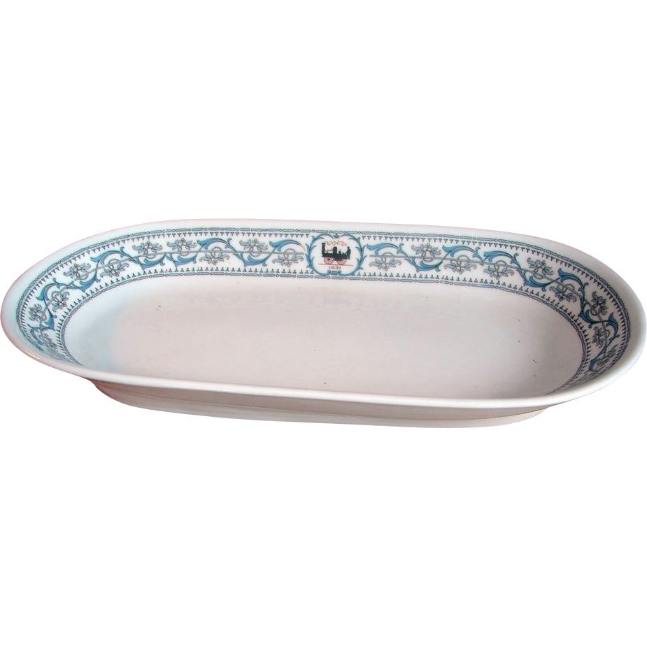 New York Central Railroad DeWitt Clinton China Celery Tray