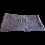 Vintage New York Central Railroad NYCS Monogram Work Car Bunk Blanket