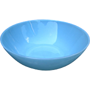 Vintage 1950s Fire-King Turquoise Blue Vegetable Bowl Anchor Hocking Mid-Century