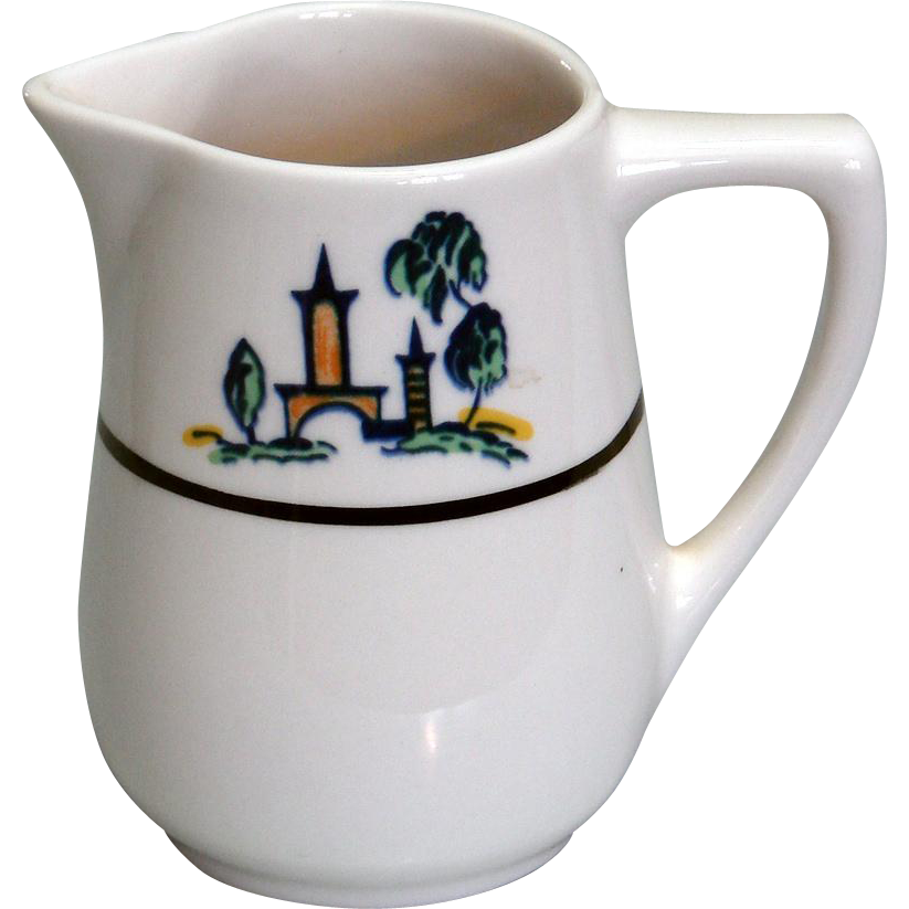 """The Cloister"" Restaurantware China Cream or Syrup Pitcher"