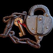 Vintage B&ORR Repair Track or Rip Track Baltimore & Ohio Railroad Lock & Key Set