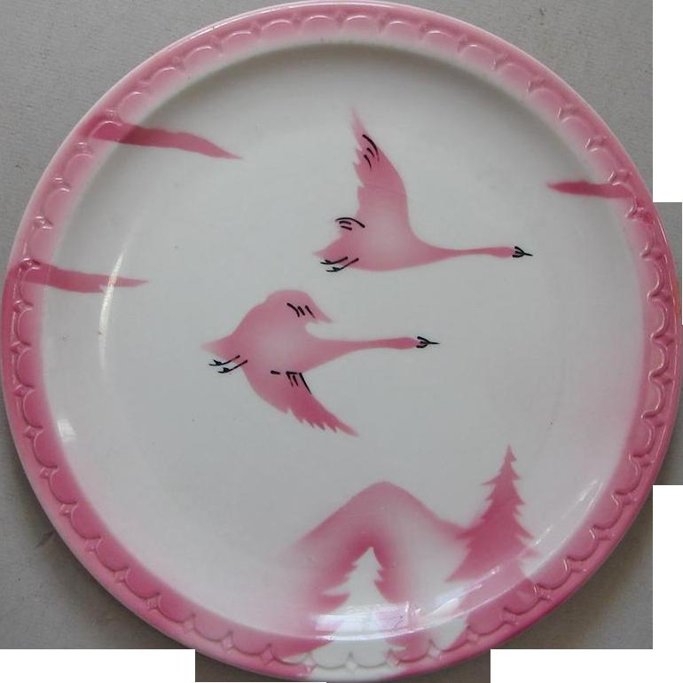"""CMStP&PRR Railroad China """"Traveler"""" Full Dinner Size Plate"""