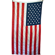 "Pre-1998 ""Bull Dog Bunting"" 50-Star American Flag Made by Dettra"