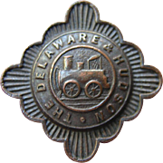 Vintage Delaware & Hudson Railroad D&HRR Stourbridge Lion Braxmar Lapel Badge