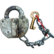D&MRY Detroit & Mackinac Railroad Switch Lock and Key Set