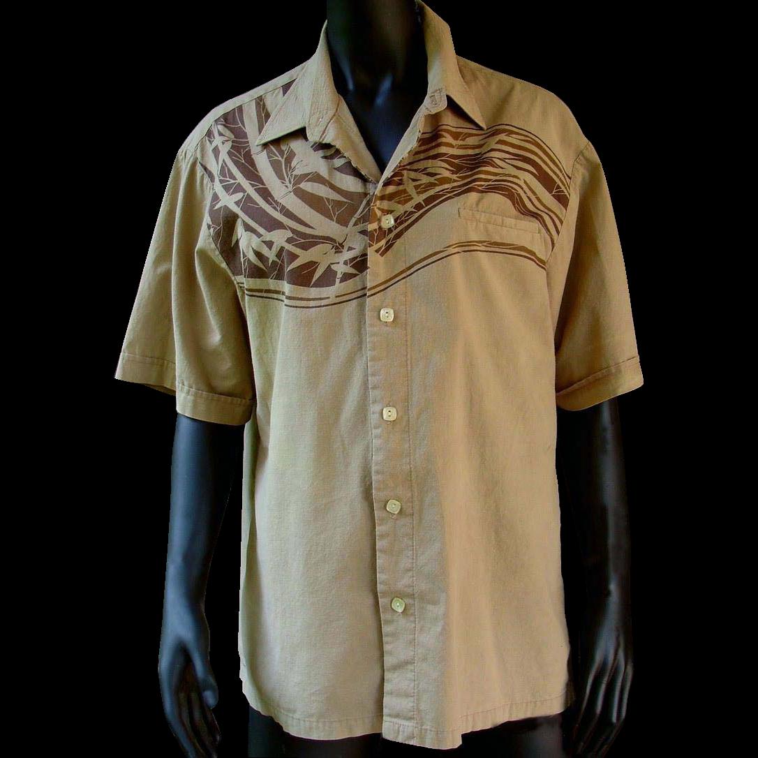 Authentic 1980s Vintage Classic Iolani Hawaiian Shirt