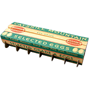 Vintage 1930s Catskill Mountain Brand Grocery Store Folding Egg Carton Forst Formost New Old Stock NOS