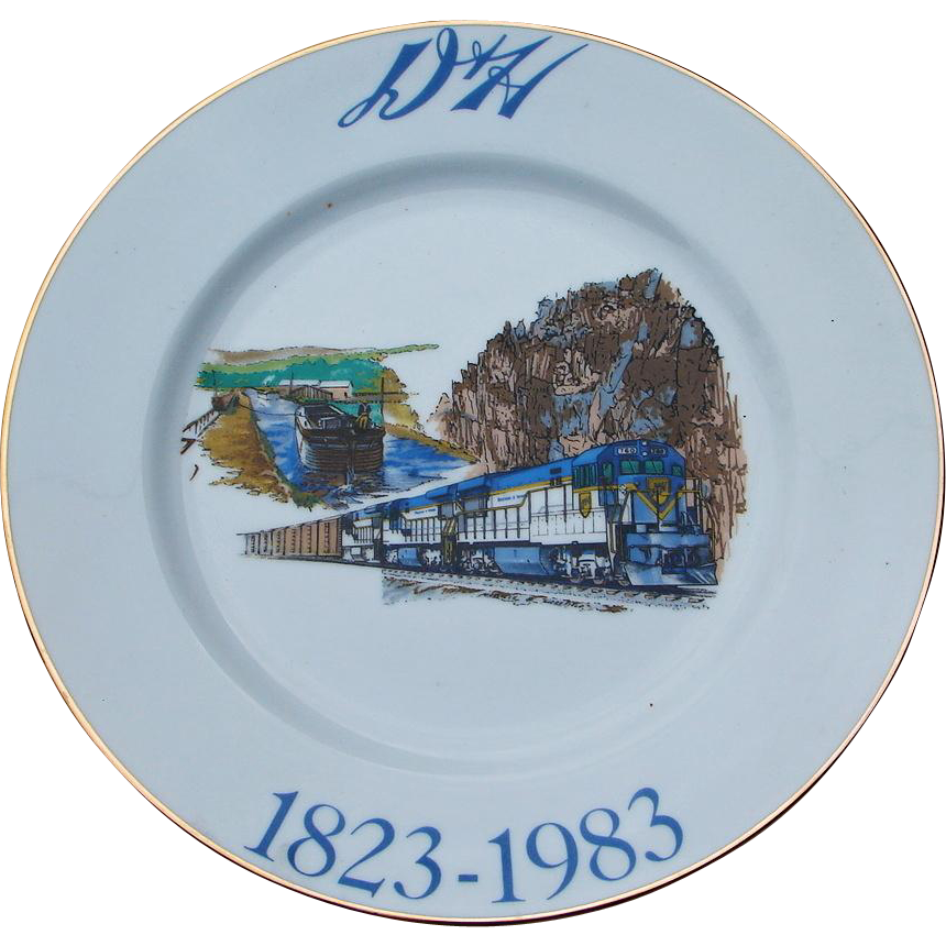 Vintage Delaware & Hudson Railroad Sesquicentennial 1983 China Service Plate