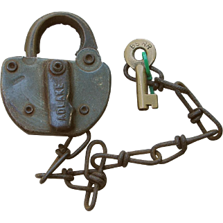 BSRR Railroad Adlake Switch Lock and Key Set
