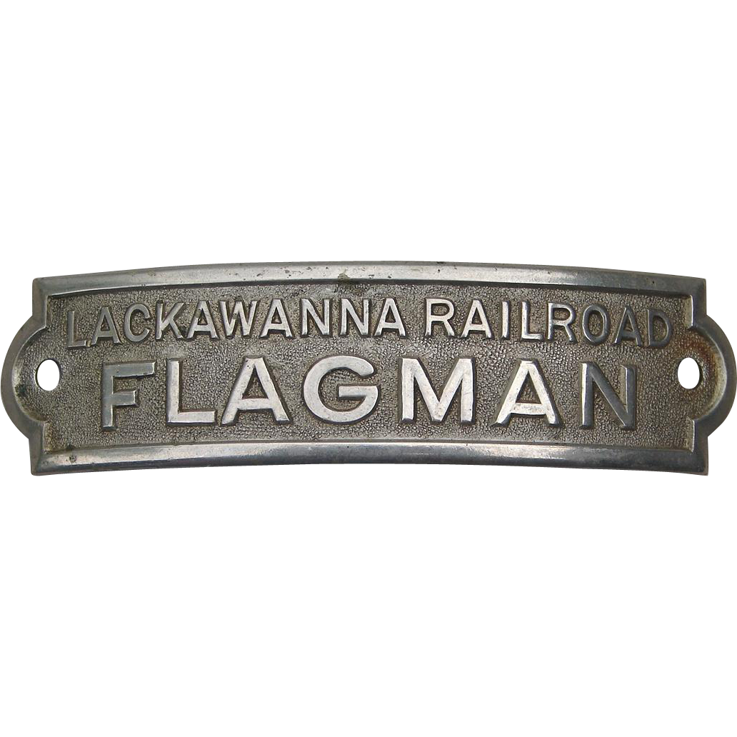 Lackawanna Railroad FLAGMAN Uniform Cap or Hat Badge