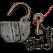 Atlantic Coast Line Railroad Switch Lock & Key Set ACLRR