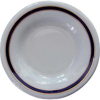 Union Pacific Railroad China Blue & Gold Butter Pat