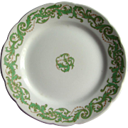New York Central Railroad China French Limoges Hudson Pattern Cake or Salad Plate