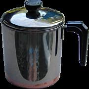 Vintage Miniature Revereware Copper Bottom Coffee Pot