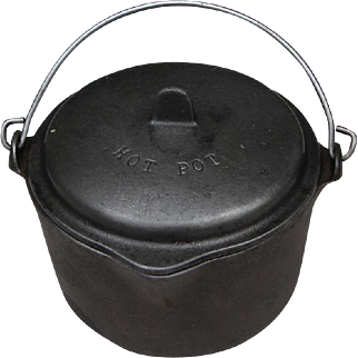"Vintage Wagner Ware ""Hot Pot"" Tiny Cast Iron Kettle w Lid"
