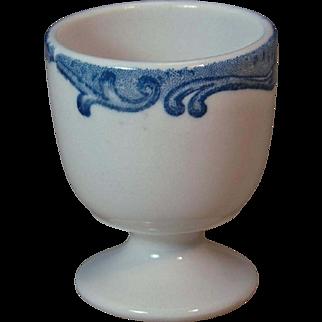Vintage Union Pacific Railroad Harriman Blue Pedestal Single Egg Cup