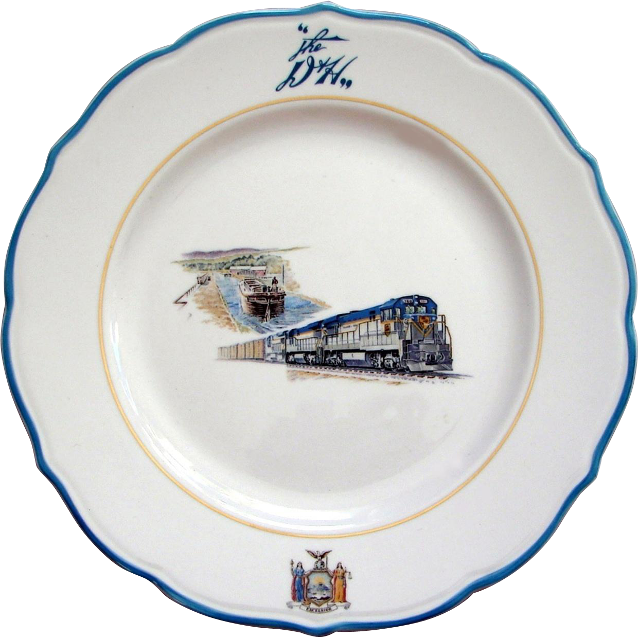 Vintage Delaware & Hudson Railroad Large China Service Plate