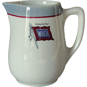 Wabash Railroad China Banner Logo Small Syrup Pitcher or Creamer