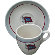 Vintage Wabash Railroad China Demitasse Cup and Saucer Set