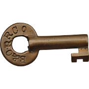 Vintage B&ORRCO Baltimore & Ohio Railroad Brass Switch Key by FSHardware