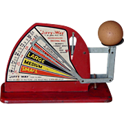 Vintage Jiffy Way Egg Weighing Scale 1940s 1950s