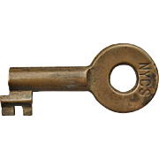Vintage New York Central Railroad Brass Tool House Key NYCS