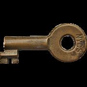 Vintage New York Central Railroad Brass Tool House Key NYCS