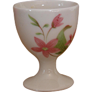 "Vintage Great Northern Railroad China ""Mountains and Flowers"" Pedestal Single Egg Cup"