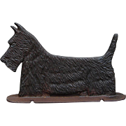 Vintage Cast Iron Scottie Scottish Terrier Dog Flexible Use: Bootscraper Doorstop Sign Topper