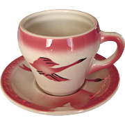 """THREE AVAILABLE: Milwaukee Road """"Traveler"""" Railroad China Cup & Saucer Set"""