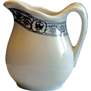 "Scarce Small 4"" New York Central Railroad ""DeWitt Clinton"" China Cream Pitcher"