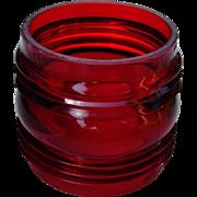 Vintage Red Fresnel Adlake Kero Railroad Lantern Glass Globe