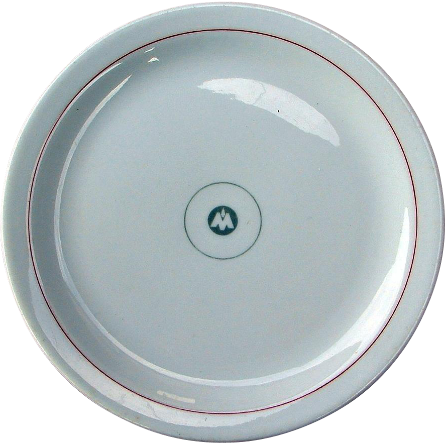 Vintage Monon Railway Railroad China Dining Car Plate