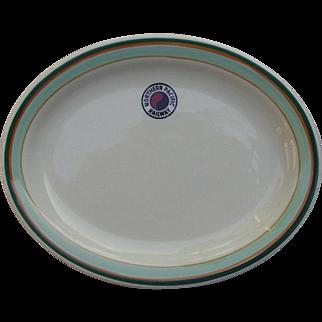 "Vintage Northern Pacific Railroad China Platter ""Monad"" NPRR Railway Dish"