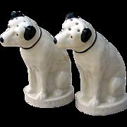Vintage Nipper Dog Marked Lenox RCA Victor His Master's Voice China Salt & Pepper Shaker Set