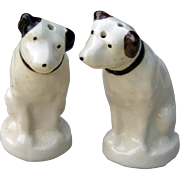 Vintage Nipper RCA Dog China Salt Pepper Shakers