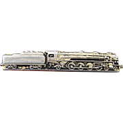 Vintage Highly Detailed Railroad Locomotive Tie Clip
