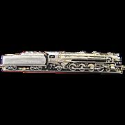 Vintage Highly Detailed Railroad Locomotive Tie Clip