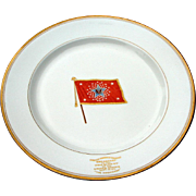 Antique 1911 President Wm. Howard Taft Breakfast in Syracuse NY 10.25 inch Fine China Plate
