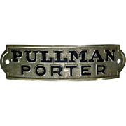 Vintage Authentic Pullman Porter Railroad Hat Cap Badge